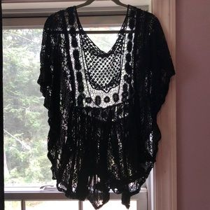 3x lace beach cover up